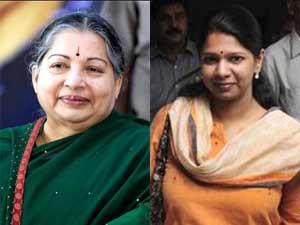 Jayalalithaa and Kanimozhi