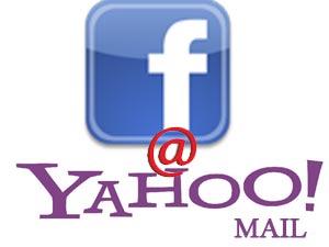 Facebbok and Yahoo Mail logos