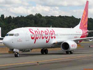 SpiceJet flight landing