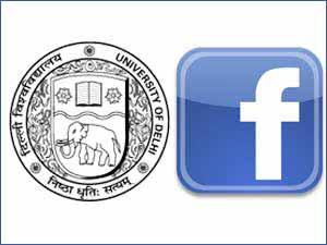 Delhi University and Facebook logos