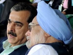Manmohan Singh and Yusuf Raza Gilani