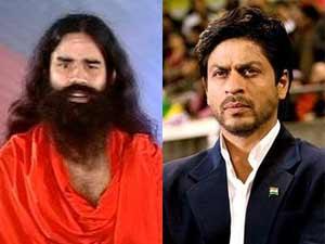 Baba Ramdev and Shahrukh Khan