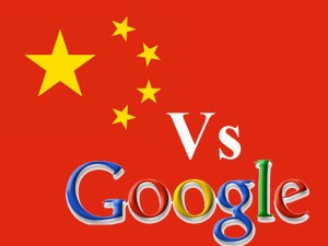 China Vs Google logos