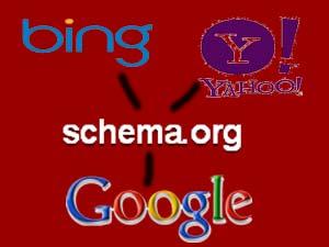 Schema.org, Google, Yahoo, Bing logos