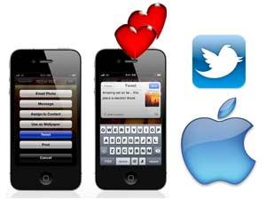 Apple iOS 5 tweeting