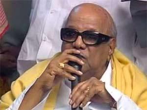 DMK party chief M Karunanidhi