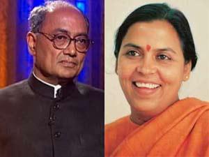 Digvijay Singh and Uma Bharti