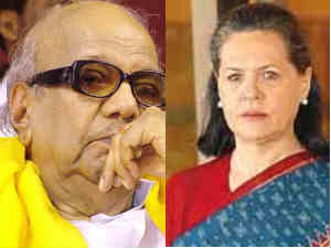 M Karunanidhi and Sonia Gandhi