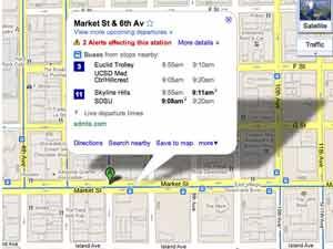 Google Maps live transit