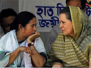 UPA chairperson Sonia Gandhi and ally Trinamool Congress Chief Mamata Banerjee
