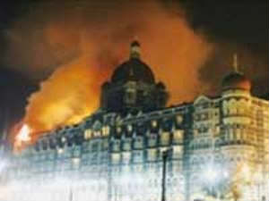 Terrorists attack on Mumbai Taj hotel in 2008