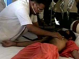 Doctor check ups Baba Ramdev's health condition