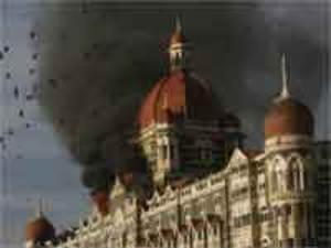 Terrorists attacks on Mumbai Taj hotel in 2008