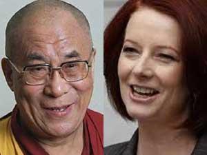 Dalai Lama-Julia Gillard