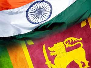 India and Sri Lanka Flags