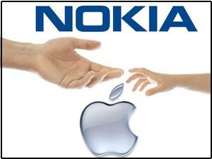 Nokia & Apple logos