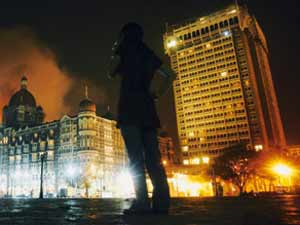 Terrorists attacks on Mumbai Taj hotel and Oberoi Hotel in 2008