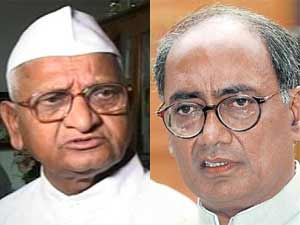 Anna Hazare and Digvijay Singh