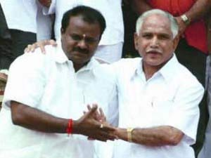 HD Kumarswamy and BS Yeddyurappa