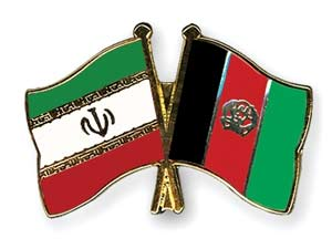 Iran-Afghan flags