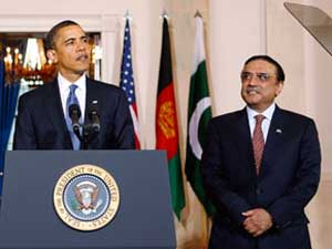 US President Barack Obama and his Pakistani counterpart Asif Ali Zardari