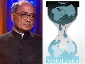 Digvijay Singh and WikiLeaks logo