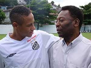 Neymar and Pele