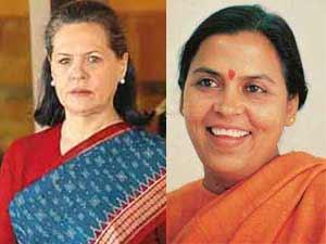 Sonia Gandhi and Uma Bharti
