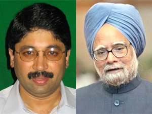 Dayanidhi Maran and Manmohan Singh