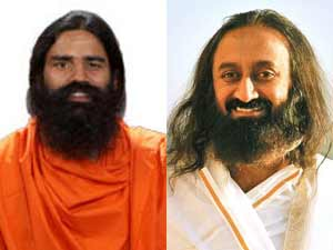 Baba Ramdev and Sri Sri Ravishankar