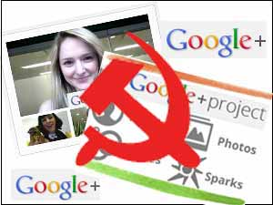 Google Plus and Communist logo