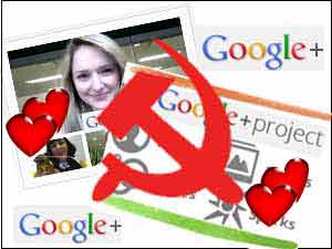 Google Plus and Communist logo