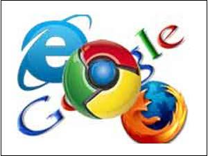 Google Chrome, IE & Firefox
