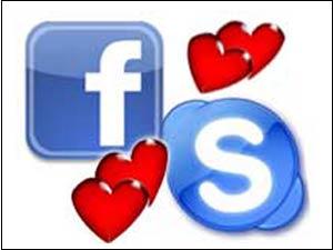 Facebook and Skype logos