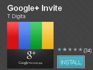 Google Plus Invite app
