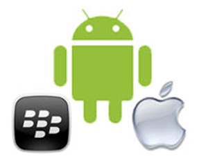 Android, Apple surge, BlackBerry slips