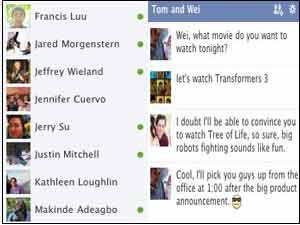 Facebook group chat
