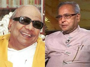 M Karunanidhi and Pranab Mukherjee
