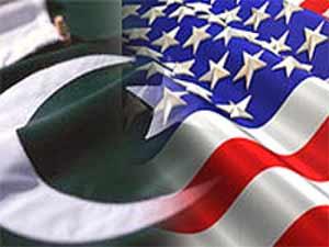 Pakistan and USA flag