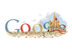 Googel Doodle on St Basil's Cathedral anniversary