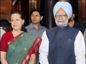 Prime Minister Manmohan Singh and Sonia Gandhi