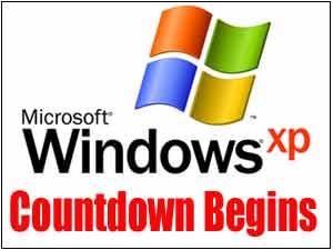 Windows XP logo with Countdown begins