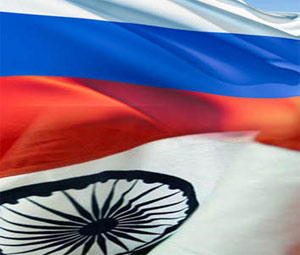 India and Russia Flag