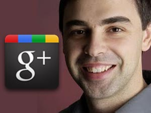 Larry Page and Google Plus logo