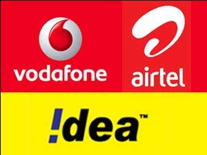 Vodafone, Airtel and Idea logos