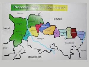 Gorkhaland Map