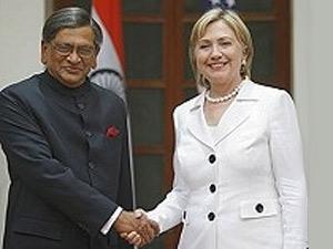 SM Krishna- Hillary Clinton
