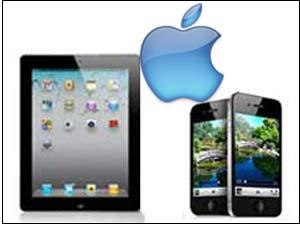 iPad, iPhone 4 and Apple logo