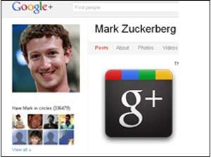 Mark Zuckerberg Google Plus Screenshot