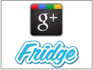 Google Plus and Fridge logos